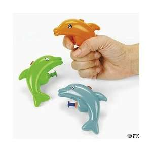 12 Plastic Mini Dolphin Squirt Guns Toys & Games