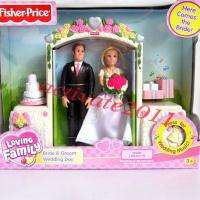 Fisher Price Loving Family Bride&Groom Wedding Day With Music