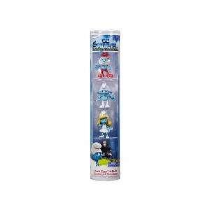 Mini Figure 4Pack Papa Smurf, Clumsy, Smurfette Gargamel Toys & Games