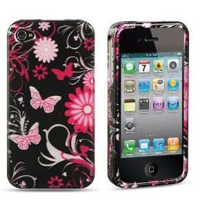 Apple Iphone 4, 4s Phone Protector Hard Cover Case Pink