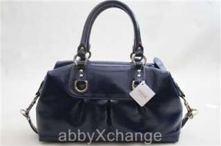 New COACH Ashley Patent Leather Satchel Carryall Shoulder Bag 15455