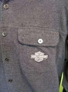 Vtg Harley Davidson Motor Clycles LS Shirt EUC Large