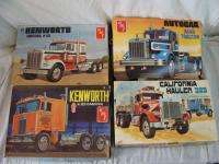 AMT Big Rig Truck Cab Model Kit Lot In Box Kenworth Peterbilt 1/25