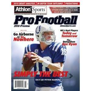 Sports 2010 NFL Pro Football Preview Magazine Sports Collectibles