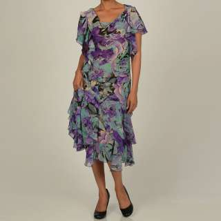 Robbie Bee Womens 2 Piece Watercolor Floral Skirt Set