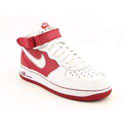 Nike Boys Air Force 1 Mid White/ Varsity Red Shoes (Size 5.5