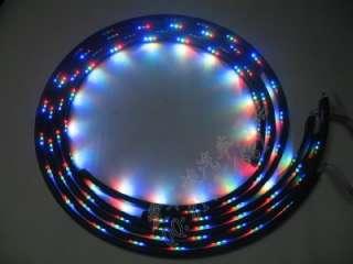 RGB LED Neon Under Car Strip Light Audio remote control