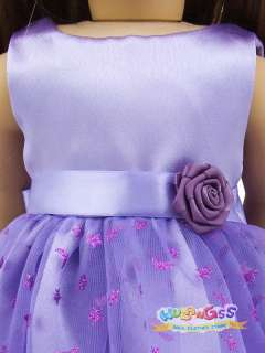 Handmade Lavender Party Dress fits 18 American Girl doll