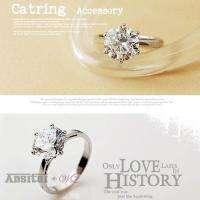 angel wing ring hot delicate charming rhinestone 3 star shining