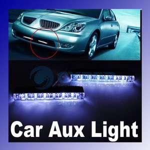 White 6 LED Light Univsersal Car Day Fog Driving Lamp 2