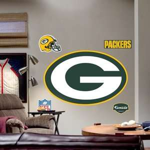Fathead Green Bay Packers Logo Wall Graphic: Decor
