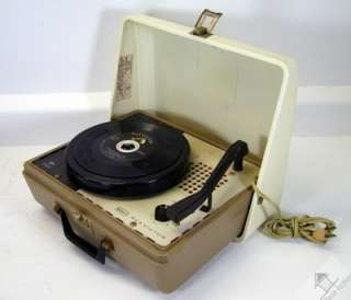 Solid State Portable 4 Speed Victrola Phonograph Record Player