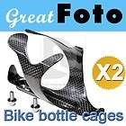 2X MTB Carbon Fiber Bike Bicycle Cycle Water Bottle Holder Cage DB910