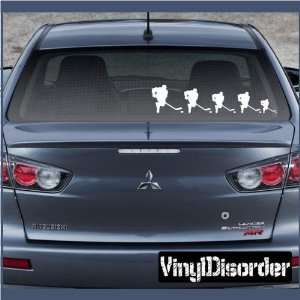 Family Decal Set Sports Hockey Stick People Car or Wall Vinyl Decal