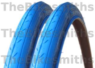700 x 23c ALL BLUE FIXED GEAR TRACK ROAD BIKE TIRES NEW 100psi