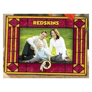 Washington Redskins Art Glass Horizontal Picture Frame