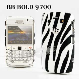 Zebra Black White Hard Cover Case For Blackberry Bold 9700