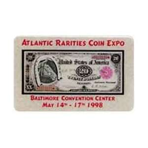Collectible Phone Card 5m Atlantic Rarities Coin Expo (05