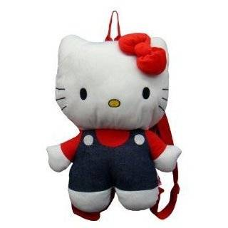 Hello Kitty 15 Plush Backpack   Jean Overalls