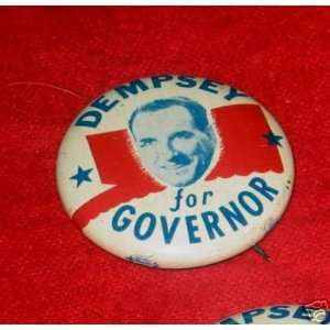 campaign pin back pinback badge button DEMPSEY 1