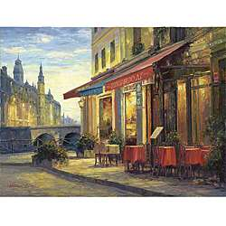 Haixia Liu Left Bank Cafe Gallery wrapped Canvas Art
