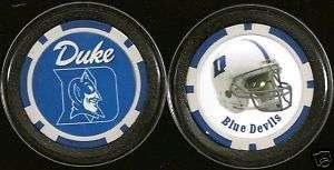 POKER CHIP CARD GUARD COLLEGE NCAA DUKE BLUE DEVILS