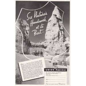 Print Ad 1936 Union Pacific Railroad See natures handiwork at its