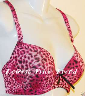 SEXY BRAS #2808 LOT CHEETAH PRINT UNDERWIRE 36DD ANIMAL PRINT NEW