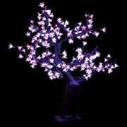 Cherry Blossom Tree   Pink 2.5 ft. Pre lit LED Cherry Blossom Tree
