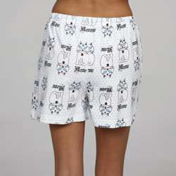 Leisureland Womens Meow Knit Boxer Shorts