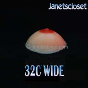 Silicone Breast Form Pair #4 Size 32C Wide Mastectomy Quality: Beauty