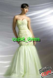 Mermaid Prom Dress wedding Gown dress*Quinceanera 2012