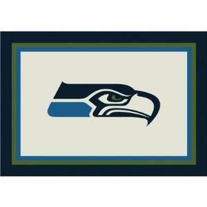 Milliken NFL Spirit Seattle Seahawks Football Rug   533321