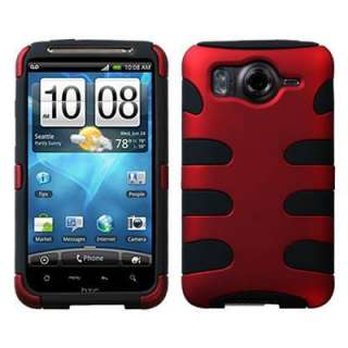 For HTC Inspire 4G Red/Black Hard/Soft Phone Case Cover+LCD Screen