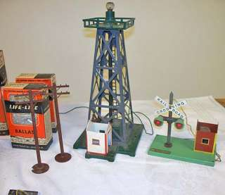 23 Old American Flyer Gilbert railroad toy stock yard transformer