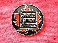 CANADIAN NATIONAL RAILWAYS LOGO EMBLEM RAILROAD HAT PIN