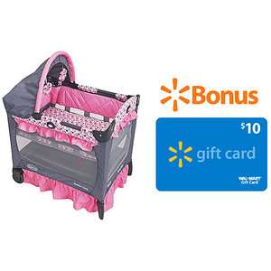 Graco   Travel Lite Portable Crib with Bassinet, Ally w