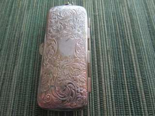 Victorian Art Nouveau Silverplate 3 Coin holder Purse
