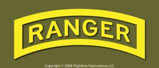 US Army Ranger Tab Large 21 Vinyl Window Decal Sticker