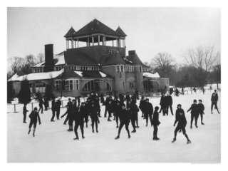 Ice Skating at Belle Isle, Detroit, Michigan Giclee Print at
