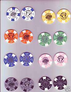 Stormy Hill Harley Davidson Store Imprint Poker Chips