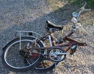 VINTAGE RALEIGH TWENTY FOLDING BICYCLE BIKE 3 SPEED CHOPPER