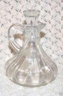 Anchor Hocking Glass Vinegar Oil Cruet & Stopper VTG
