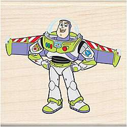 Disneys Buzz Lightyear Wood Mounted Rubber Stamp