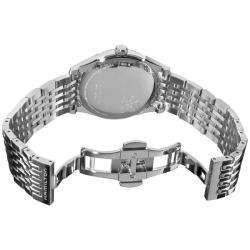 Mens Timeless Classic Thin O Matic Silver Face Watch