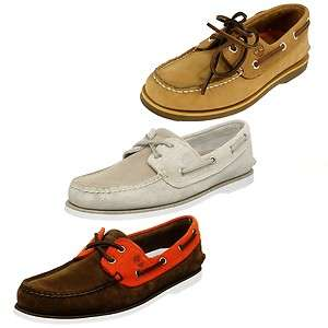 Men's Shoes Classic lace up 2 Eye Boat Wheat Lt Brown & Orange Suede
