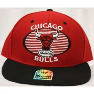 Chicago Bulls Snapback Retro Logo Red / Black Two Tone