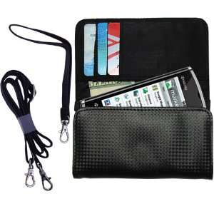 Black Purse Hand Bag Case for the Kyocera Zio M6000 with