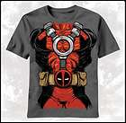 New Deadpool Costume Marvel Comics Mens Adult T shirt top tee