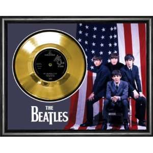 The Beatles We Can Work It Out Framed Gold Record A3